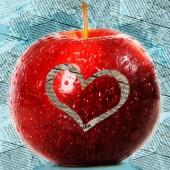 Manzana de corazón