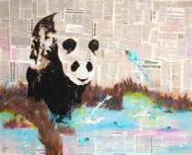 Oso panda / periódico