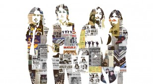 BEATLES CON CARTELES