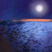 peces bajo la luna