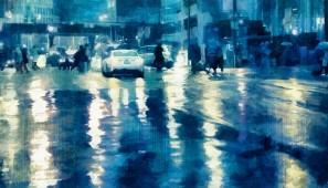 Luces bajo la lluvia
