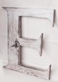 """Letra """"E"""" de madera"""