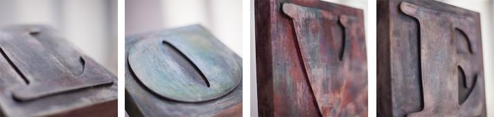 Love / tallado en madera
